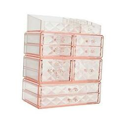 Makeup Organizer Acrylic Cosmetic Storage Drawers and Jewelry Display 8 drawer