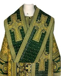 Green Bishopand039s Vestments Lightweight Fabric Fully Embroidered Other Colors Avail
