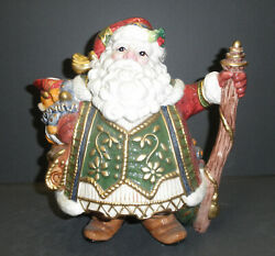 Fitz And Floyd Jolly Ole St. Nick Teapot - New In Box - 19/37
