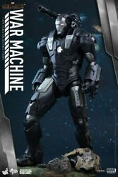 War Machine Iron Man 2 Diecast Hot Toys 1/6 Scale Figure With Suit Up Opened