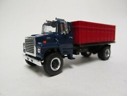 Top Shelf 1/64 Scale Ford Ln 9000 Grain Truck Blue Red Bed Same Scale As Dcp