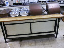 Vintage Albert Pick And Company Copper Top Steam Table