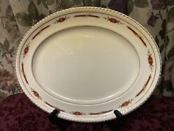 1930's Johnson Brothers 14 Platter Old English -england Guildford Maroon