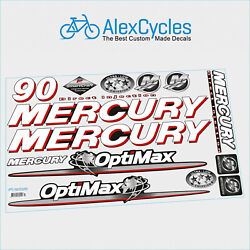 90 Hp Mercury Optimax Direct Injection Outboards Motor Laminated Decals Kit