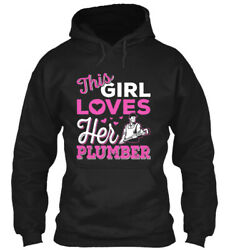 Teespring Shirts On Fire This Girl Loves Her Plumber Classic Pullover Hoodie