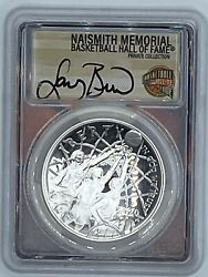 2020p Pr70dcam Nba Hof Curved 1 Silver Autographed By Larry Bird Pcgs Certified