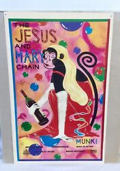 Rare The Jesus And Mary Chain Munki Poster 1998