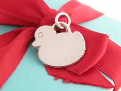 And Co Silver Adorable Duck Charm Pendant