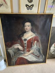 Follower Of Sir Godfrey Kneller Old Master Antique Portrait Of A Royal Lady
