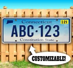Customizable Connecticut License Plate Advertising Vinyl Banner Flag Sign Usa