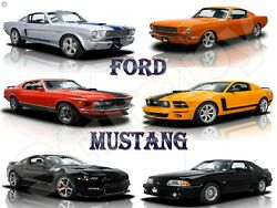 Ford Mustang Metal Sign 9 X 12 Or 12 X 16