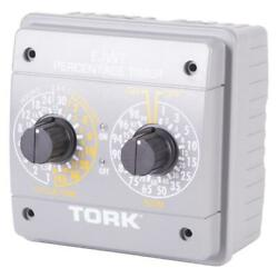 Tork Timer Incandescent Wall Mounted Programmable Mechanical Indoor Gray 4800 W