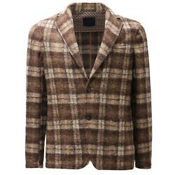 7305ad Giacca Uomo Copper By Altea Light Brown Mix Wool Jersey Jacket Men