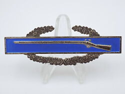 Wwii Us Army Cib Combat Infantry Badge Sterling - White Back / Silver Clutch