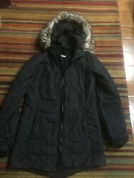 The North Face Black Hooded Coat Size S Women $34.99