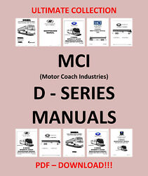Mci Bus D-series Maintenance Owners Manual Parts List - Only Pdf Download
