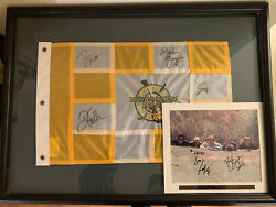 Hootie And The Blowfish Monday After The Masters Signed Pin Flag And Photo Quigley