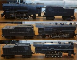 3 American Flyer Locomotive And Tender Lot - 21160, 303 And 293 - S Gauge