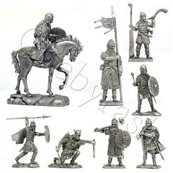 Tin Toy Soldier Vikings Medieval Warriors North Europe Ix-xi 54mm Part 6