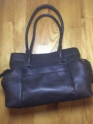 Kate Spade Handbag Brown Leather Tote S738 Used In Good Condition $32.00
