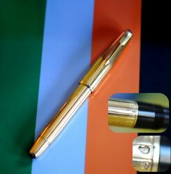 18k Solid Gold Body Nib And Clip Parker Fountain Pen 2 Jewels