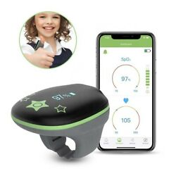 Kids O2 Ring Blood Oxygen Saturation Heart Rate Wearable Tracker Bluetooth App