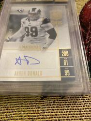 2017 Panini Contenders Aaron Donald Auto Bgs 9.5 10 Mint 8/10 Gold Rams Rare Wow