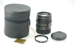 Rare Top Mintleica Summicron-m 50mm F/2.0 Germany For M6 M7 Mp Etc 4042