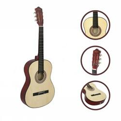 Beginners Acoustic Guitar With Guitar Case Strap Tuner And Pick 38 Natural