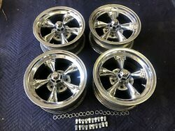 Rare Set Of {4} Vintage Real Torque Thrust D Wheels.15x 7andrdquo4 3/4 Chevy Crow