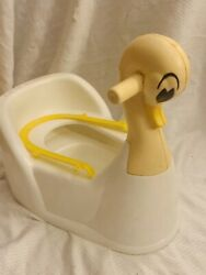 Vintage Sanitoy Potty Chair Swan Duck Super Cute