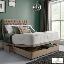 Mulberry Mattress And Fudge Ottoman Divan King Pocket Spring Bed Company