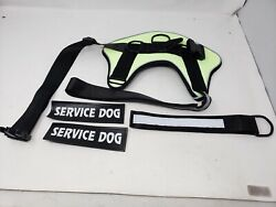 voopet Dog Harness Laser Reflective No Pull Pet Harness X LARGE GREEN