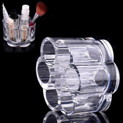Round Cosmetic Clear Makeup Holder Jewelry Acrylic Case Storage Box Organiser #p $5.97