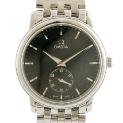 Omega Watches Silver Black Stainless Steel De Ville Prestige From Japan