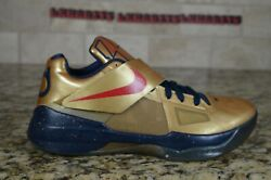 New Nike Air Zoom Kd Iv 4 Gold Medal Olympic Blue Black Size 8 473679-702