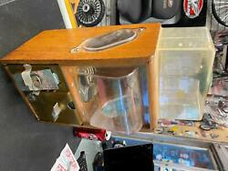 Victor Vending Baby Grand Extended Gumball Bubble Gum Machine Vint Wood Antique