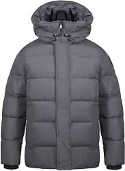 Tiger Force Winter Hooded Puffer Coat For Men Parka Heavyweight Padded Cotton Ja