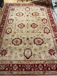 10and0392 X 14and0392 Karastan Oush Ak Design Oriental Rug - Full Pile - Made In Usa