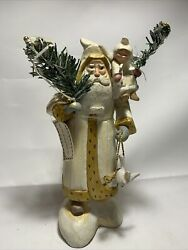 House Of Hatten 1996 Denise Calla Santa W/ Angel And Dove, Wings Of Light W/ Tag
