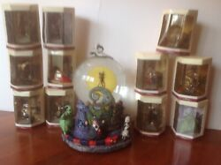 Disney Nightmare Before Christmas Snow Globe With 11 Additional Boxed Characters