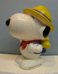 Peanuts Snoopy Woodstock 8quot; Beagle Scout Bank