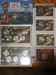 2006 2012 2009 2004 And 2003 Illinois State Quarters Uncirculated Coin Sets