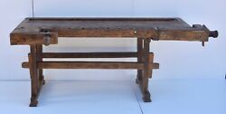 Vintage Carpenters And Joiners Workbench