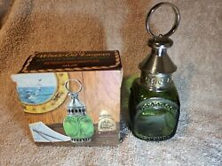 Vintage Avon Whale Oil Lantern Wild Country Aftershave Green Glass Empty Bottle