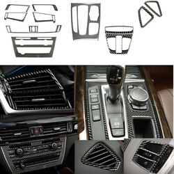 For Bmw X5 F15 X6 F16 Carbon Fiber Interior Accessories Whole Kit Cover 14-17