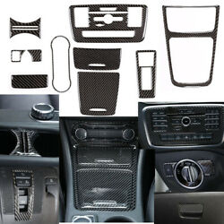 For Benz Cla Gla Abs Carbon Fiber Interior Accessories Whole Kit Cover 2013-2019