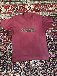 Vintage 80s Indian Motorcycle T Shirt Size Large Made In Usa