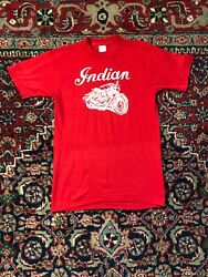 Vintage 80s Indian Motorcycle T Shirt Size Small Made In Usa