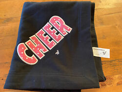 Cheer Black W/ Pink And White Polka Dot Lettering Cheerleading Throw Blanket New